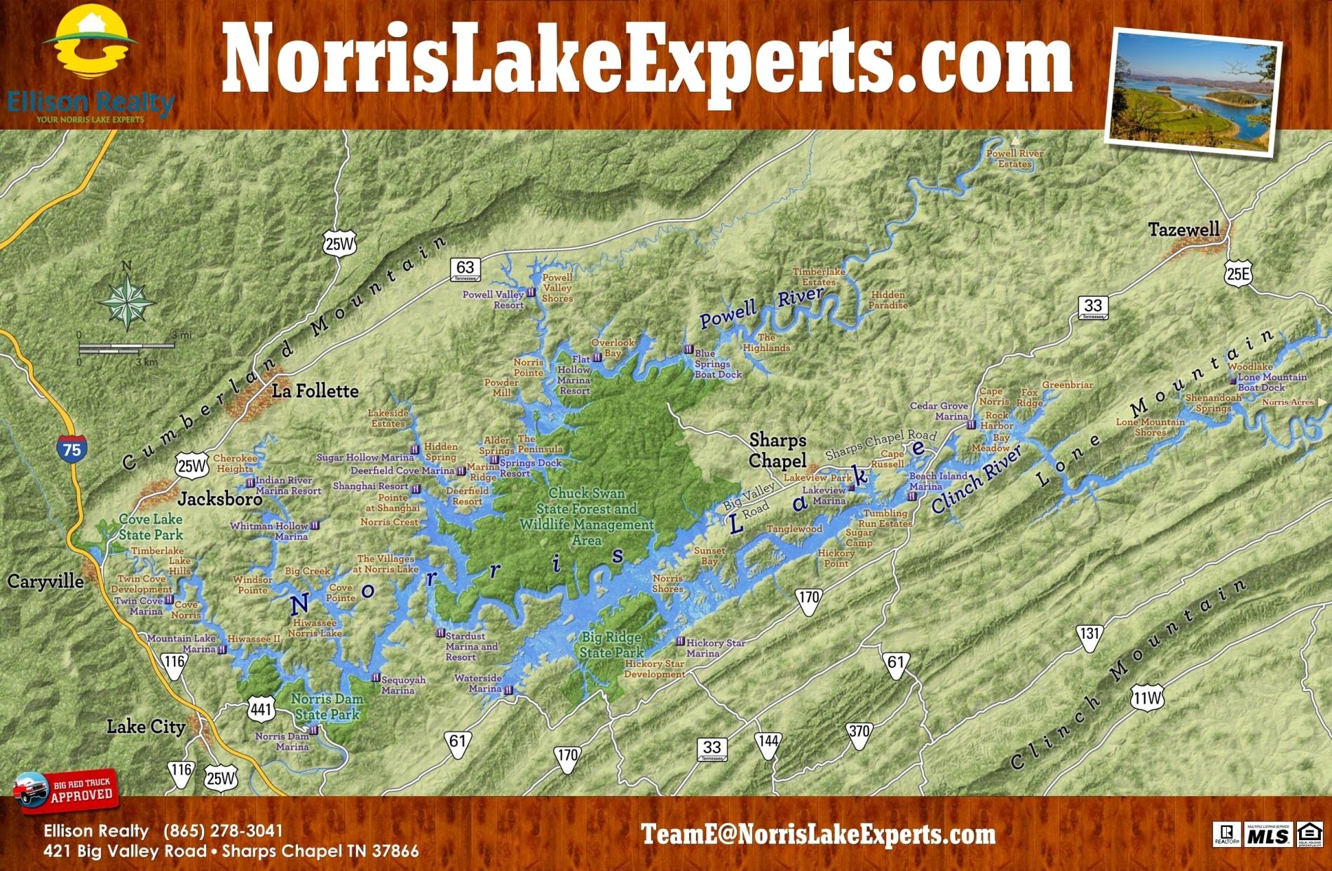 Norris Lake Map